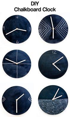 DIY chalkboard clock — it's super simple!