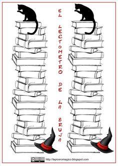 """Os dejo un nuevo modelo de Lectómetro , que he diseñado recientemente: el """" Lectómetro de la bruja"""" . Estoy preparando uno muy distint... Book Journal, Journals, Bullet Journal, Too Cool For School, Conte, Classroom Management, Bookmarks, Diy And Crafts, Learning"""