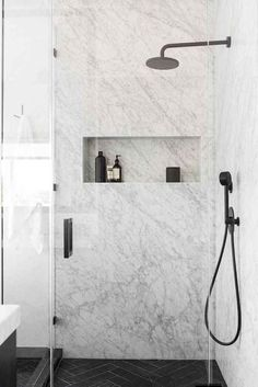 7 Resourceful Cool Ideas: Garden Tub To Shower Remodel small shower remodeling vanities.Walk In Shower Remodel Master Baths shower remodel no door bathroom ideas.Plastic Stand Up Shower Remodel. Modern Bathroom Design, Bathroom Interior Design, Modern House Design, Home Design, Design Ideas, Bath Design, Marble Interior, Modern Interior, Modern Decor
