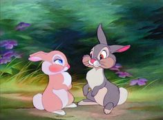 Bambi Thumper and Miss Bunny Bambi Disney, Disney Amor, Disney Cartoons, Disney Love, Disney Magic, Disney Pixar, Disney Ideas, Cartoon Cartoon, Cartoon Wallpaper Hd