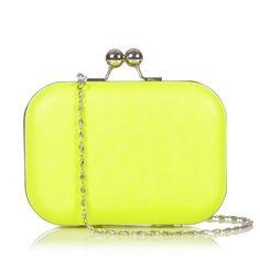 Lucilla Yellow Neon box clutch | Stylistpick