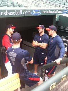Joe Mauer on the left and my QB Christian Ponder on the right. Too hot to handle!
