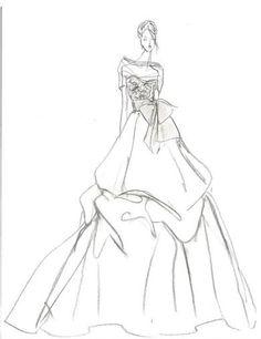 95 best wedding dress illustations images fashion illustrations Designer Evening Gowns wedding gown sketch by ritavinieris rivini for hilary duff via aisle dash wedding