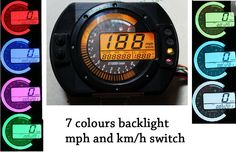 MPH LCD Digital Speedometer Odometer Tachometer FOR Motorcycle Scooter Dirt Bike   eBay