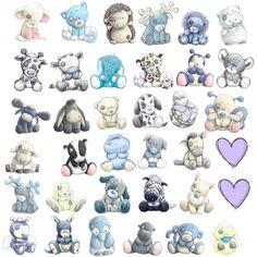 """•́ᴥ•̀ Tatty •́ᴥ•̀ #tatty #teddy •́ᴥ•̀ Tatty •́ᴥ•̀ #tatty #friends #teddy """"My Blue Nose Friends"""" by sayhatashley on Polyvore"""
