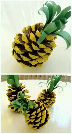 DIY Pinecone/Pineapple