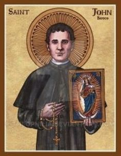 John Bosco icon by Theophilia on DeviantArt Catholic Art, Catholic Saints, Roman Catholic, Religious Images, Religious Art, Holy Art, St John Bosco, Catholic Pictures, Sacred Art