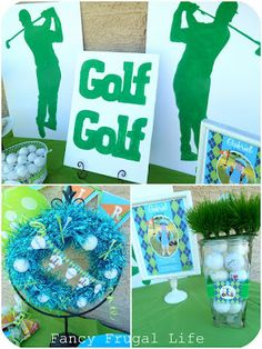 Fathers Day DIY golf party decorations Could use golf decorations
