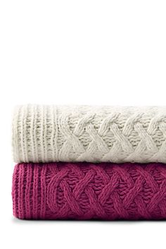 Chenille Cable Knit Throw Lands End M0gevjU