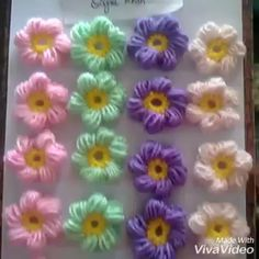 Crochet Jewelry Patterns, Crochet Flower Patterns, Crochet Stitches Patterns, Crochet Flowers, Beading Patterns, Crochet Puff Flower, Crochet Stars, Hand Embroidery Videos, Hand Work Embroidery