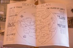 Seating plan in the style of a map from a fantasy book with each table represented by a nation. Photo by Matt Porteous. Fantasy Books, Table Plans, Wedding Ideas, Map, How To Plan, Feelings, Style, Swag, Location Map