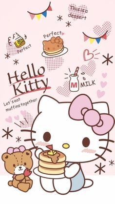 Hello Kitty Iphone Wallpaper, Hello Kitty Backgrounds, Sanrio Wallpaper, Kawaii Wallpaper, Hallo Kitty, Hello Kitty Art, Hello Kitty Themes, Hello Kitty Pictures, Kitty Images
