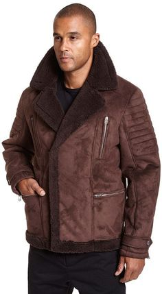 Excelled Big & Tall Excelled Faux-Shearling Jacket
