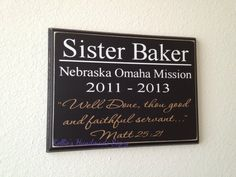 Returned LDS Missionary plaque  Well Done by KelliesHandmadeSigns, $30.00