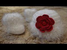 Passo a passo Touca Luisa em Crochê para Bebê - YouTube