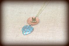 July Challenge: Double Bird Charm Necklace by BAccessorized on Etsy