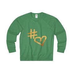 """ Hashtag Love "" Adult Unisex French Terry Crew"
