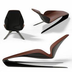 UKIYO long chair Rocking Long Chair by Saburo Hazumi Classic Furniture, Unique Furniture, Contemporary Furniture, Furniture Design, Funky Furniture, Cheap Furniture, Discount Furniture, Office Furniture, Poltrona Design