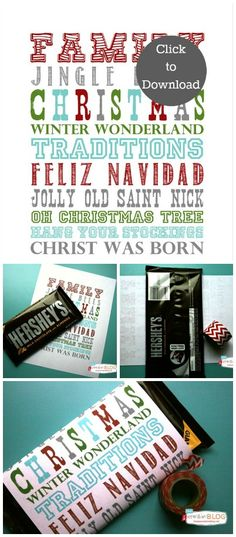 Printable Christmas Candy Bar Wrapper | TodaysCreativeblog.net
