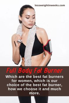 Top full body fat burner. Here are the top 7 best fat burners for women with natural ingredients. Full body fat burner and not only belly fat. Why these are the best fat burners for women? See how we choose them and the best and much more. Fat burners with natural ingredients help you eliminate the fat that you have accumulated in your body without the risks of surgery or drugs. #bestfatburnersforwomennatural #whatisthebestfatburner #fullbodyfatburner Metabolism Booster Supplements, Fat Burner Supplements, Weight Loss Supplements, Burn Belly Fat, Lose Belly, Best Fat Burner, Speed Up Metabolism, Natural Fat Burners, Best Weight Loss Supplement