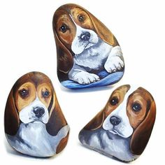 Hand painted Beagle puppy pebble pets.  #beagle #beaglepuppy #justbeagles #paintedrocks #rockart #animalart #animalartist #animalcreatives #dogs #dog #dogartist #dogart #cutepuppy #cutebeagle #dogportrait #dogpainting #handpainted
