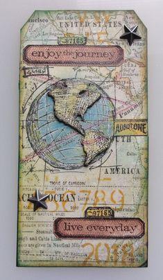 Enjoy the Journey Tag - Scrapbook.com
