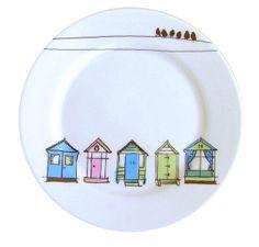 """Beach Hut Side plate 8"""" - Jam Tart"""