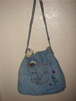 Bag recycled from jeans