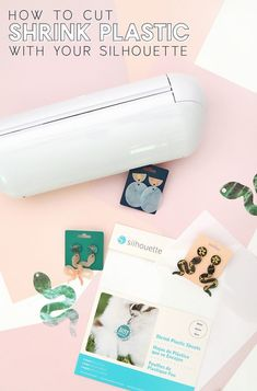 How to Cut Shrink Plastic with your Silhouette - Learn how you can cut shrinky dinks film with your Silhouette Cameo 4, Cameo 3, or Portrait machine! Silhouette Curio, Silhouette Portrait, Silhouette Cameo Projects, Silhouette Machine, Daisy, Diy Shrink Plastic Earrings, Shrink Plastic Sheets, Shrink Paper, Shrink Film