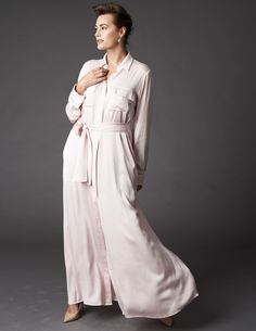 Maxi Silk Shirt Dress WINSER LONDON