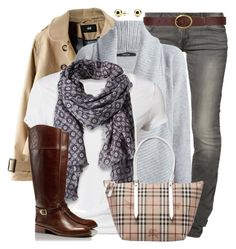 """""""Oversized Cardigan"""" by wishlist123 ❤ liked on Polyvore featuring Lee, Dorothy Perkins, H&M, Nomad, Calvin Klein, Tory Burch, Burberry and C. Wonder"""