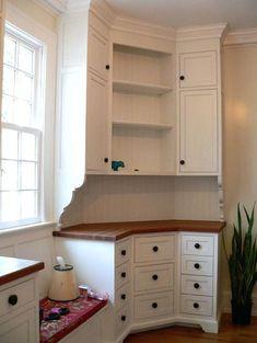 Image result for corner desk cabinet