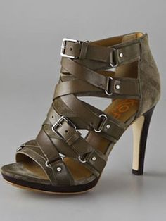 KORS Michael Kors Bixby Suede High Heel Sandals - Sold out everywhere, but I… Hot Shoes, Crazy Shoes, Me Too Shoes, High Heels Stilettos, Shoes Heels, Pumps, Suede Sandals, Sandal Heels, Strappy Shoes