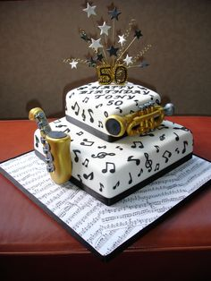 Music Cake on Cake Central Music Themed Cakes, Music Cakes, Music Themed Parties, Bolo Musical, Dessert Quotes, Fake Cake, Cake Central, Sweet 16 Parties, Brownie Cake