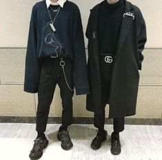 Cypress and Jaam Grunge Outfits, Edgy Outfits, Pretty Outfits, Fashion Outfits, Streetwear Mode, Streetwear Fashion, Ulzzang Fashion, Korean Fashion, Aesthetic Fashion