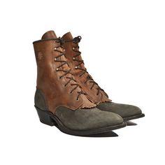 Vintage Aztec Lacer Ankle Boot Lace Up Roper door RabbitHouseVintage, $128,00