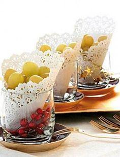 Una forma tradicional de servir las uvas, con un toque extra <3