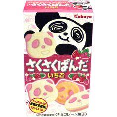 Kabaya Strawberry Panda Biscuits (Saku Saku Panda Ichigo) 38g