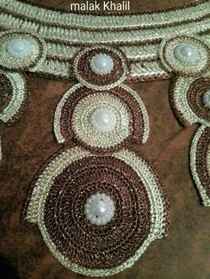 Crochet Necklace, Jewelry, Dresses, Fashion, Models, Embroidery, Dress, Baskets, Boss