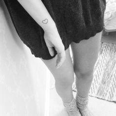 tiny heart wrist tattoo