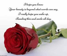 Good morning poems for him with red rose. Good Morning Love Text, Romantic Good Morning Messages, Good Morning Quotes For Him, Good Morning Texts, Morning Qoutes, Happy Morning, Modern Love Poems, Cute Love Poems, Love Poem For Her