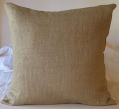 Burlap Euro Shams Pillow Cover 28 X 28 Lined by CasualEleganceHome, $30.00