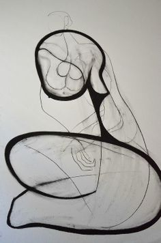 Drawing by Carmel Jenkin, Beauty Within, charcoal on paper, 81cm x 57cm