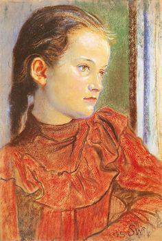 The Athenaeum - Portrait Of A Girl In A Red Dress (Stanislaw Wyspianski - )