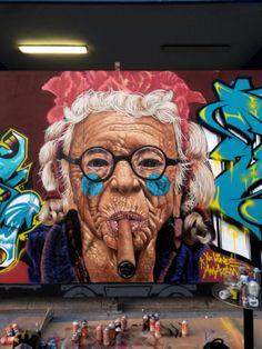 """Street Art in Thessaloniki, Greece"" Grafitti Street, Murals Street Art, Graffiti Art, Banksy, Amazing Street Art, Art Graphique, Office Art, People Art, Art Festival"