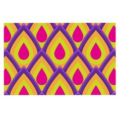 KESS InHouse Roberlan 'Pineapple' Pink Yellow Dog Place Mat, 13' x 18' *** Insider's special review you can't miss. Read more  : Dog food container