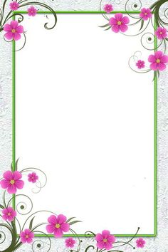 Border with pink flowers Frame Border Design, Boarder Designs, Page Borders Design, Flower Backgrounds, Flower Wallpaper, Flower Background Design, Picture Borders, Powerpoint Background Design, Boarders And Frames