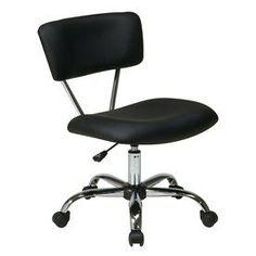 Office Star One Avenue Six Black/Chrome Vinyl Task Office Chair St181-