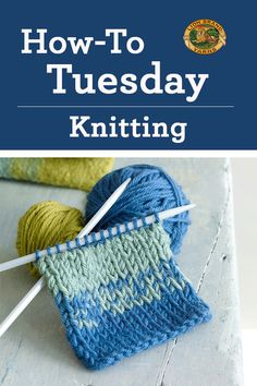 It's How-to Tuesday! Today we've got tips for knitters, like how to knit a buttonhole and how to knit short rows! Click through for more!