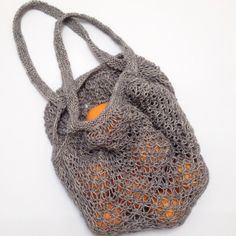 Breipatroon markttas / Free knitting pattern market bag